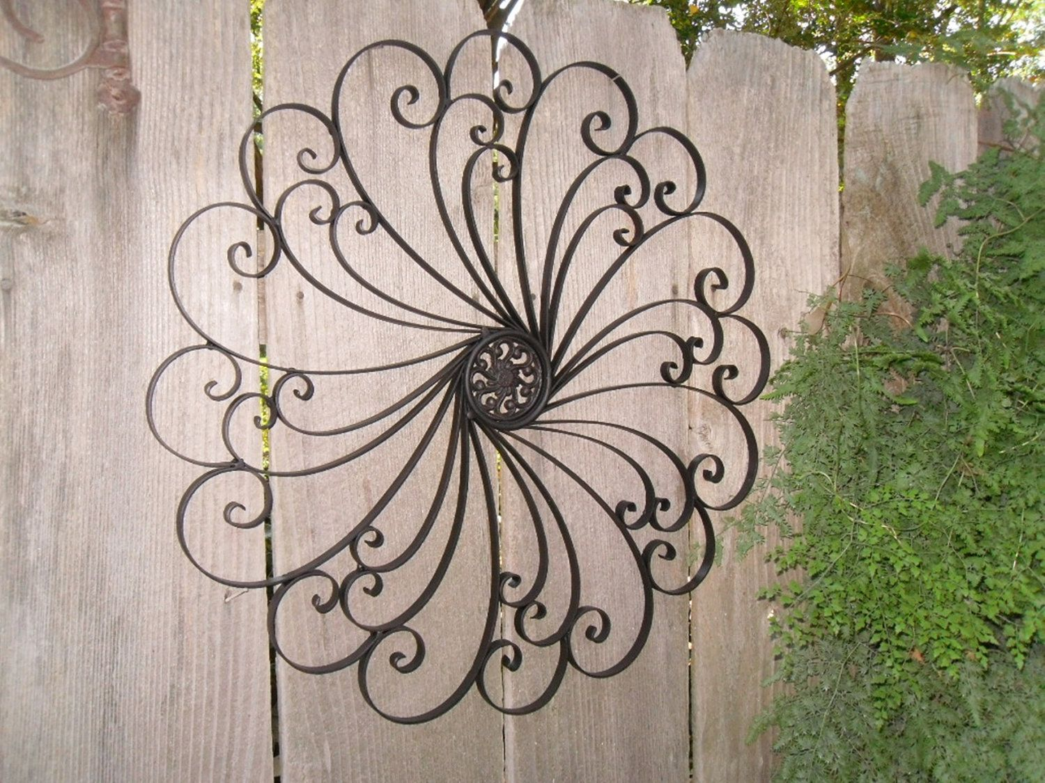 Large wrought iron wall decor metal wall decor choice color