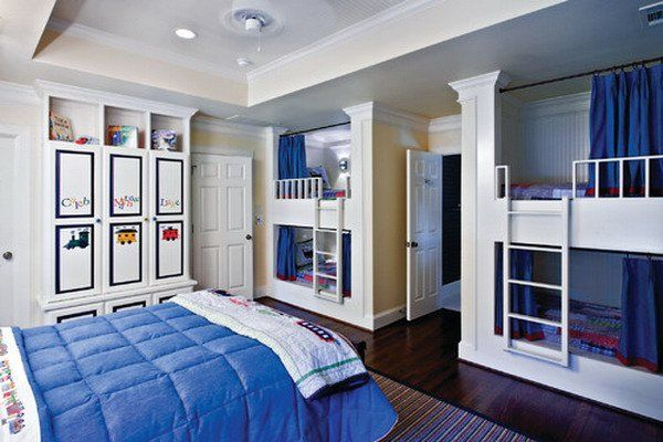 Double Deck Beds For Kids 30+ beautiful bunk room ideas for kids   bunk rooms, erase board