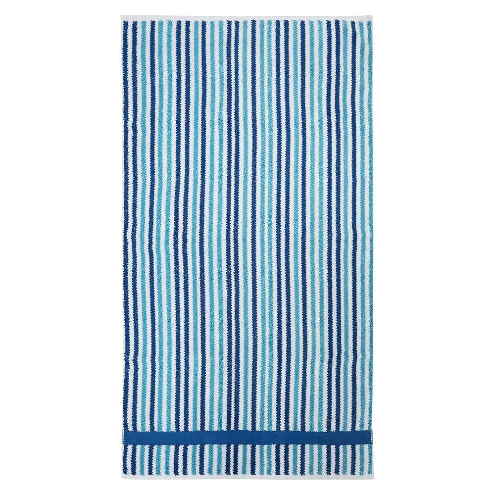 Striped Bath Towels - Pillowfort, Blue Delta   Products