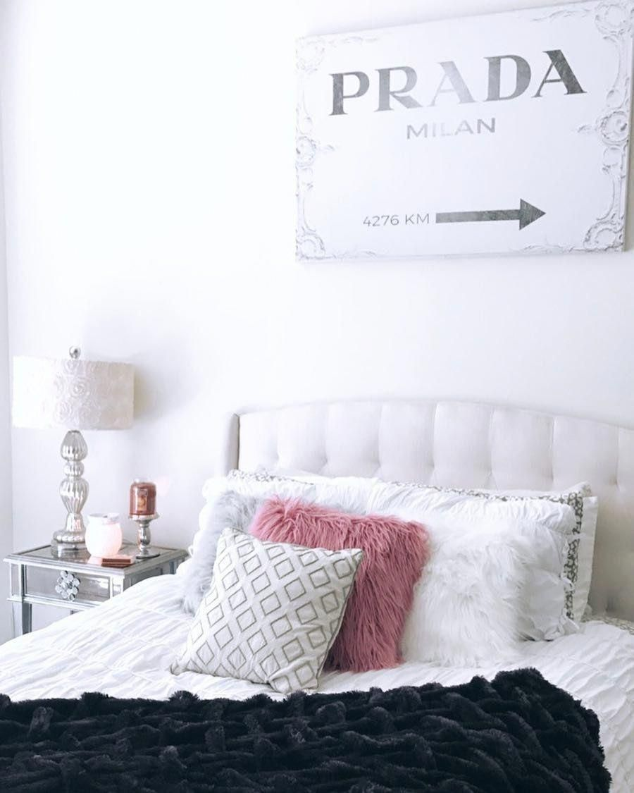 The Prada Milan Art Print Nicoleamcintosh On Instagram Freshened Up The Bedroom Decor And I Just In 2020 Home Decor Online Americana Home Decor Home Decor Catalogs