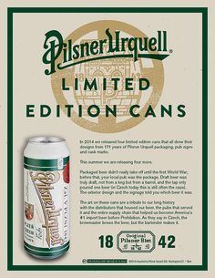 Pilsner Urquell  Craft Beer Sell Sheets    Czech Beer