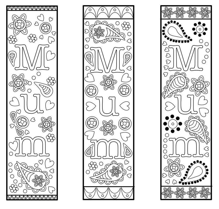 Free Printable Bookmark Template For Mothers Day Or Mum. For