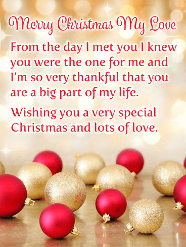 Lot S Of Love Romantic Merry Christmas Card Birthday Greeting Cards By Davia Christmas Love Quotes Christmas Love Messages Merry Christmas My Love