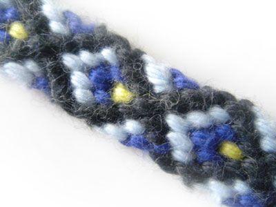 Apprenons à faire des Bracelets brésiliens en forme de losange. Le tuto étape par étape.