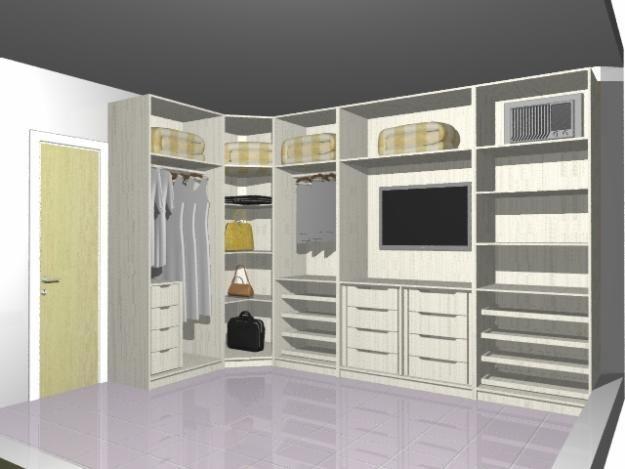 quarto de casal pequeno com guarda roupa em L Pesquisa  ~ Quarto Planejado Com Guarda Roupa Em L