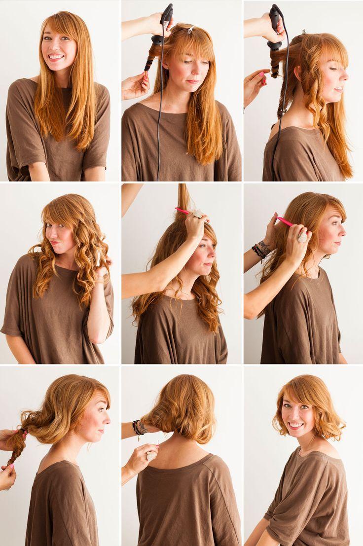 How To Make Long Hair Short Faux Bob Hair Tutorials Pretty Designs 20er Jahre Frisur Bob Haare Lassige Hochsteckfrisuren