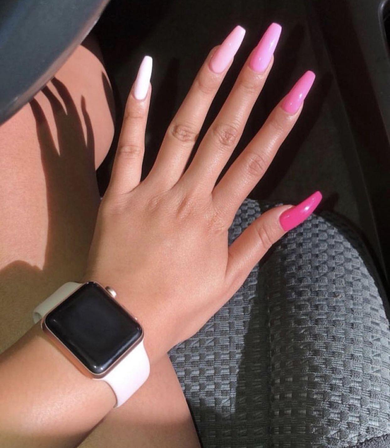 Pin By Gaby Grecula On Nails Pink Acrylic Nails Pink Acrylic Nail Designs Pink Nails