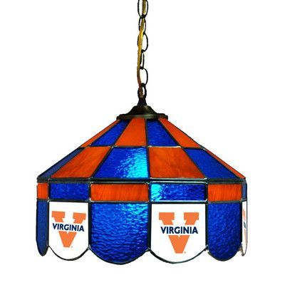 "Wave 7 NCAA 14"" Wide Swag Hanging Lamp Style: Executive, NCAA Team: Virginia - Alternate 2"
