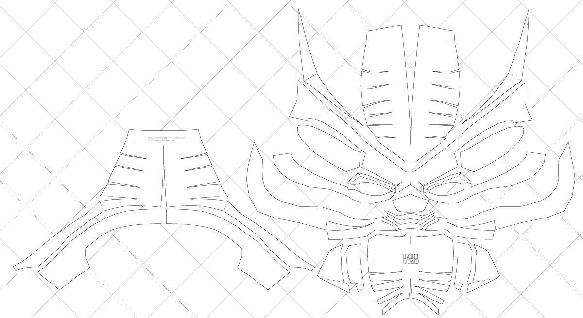 how to make your own black panther helmet pdf template. Black Bedroom Furniture Sets. Home Design Ideas