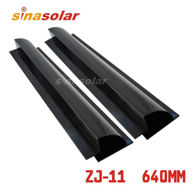 Black Color Aluminium 640mm Side Solar Panel Mount Bracket Spoiler For Caravan Motorhome Rv Solar Panel Mounts Solar Energy Panels Solar Heating