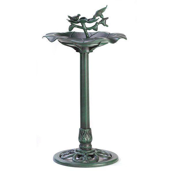 Outdoor Garden Bird Bath Water Birdbath Bowl Pedestal  Fountain Yard Art Decor  #Unbranded