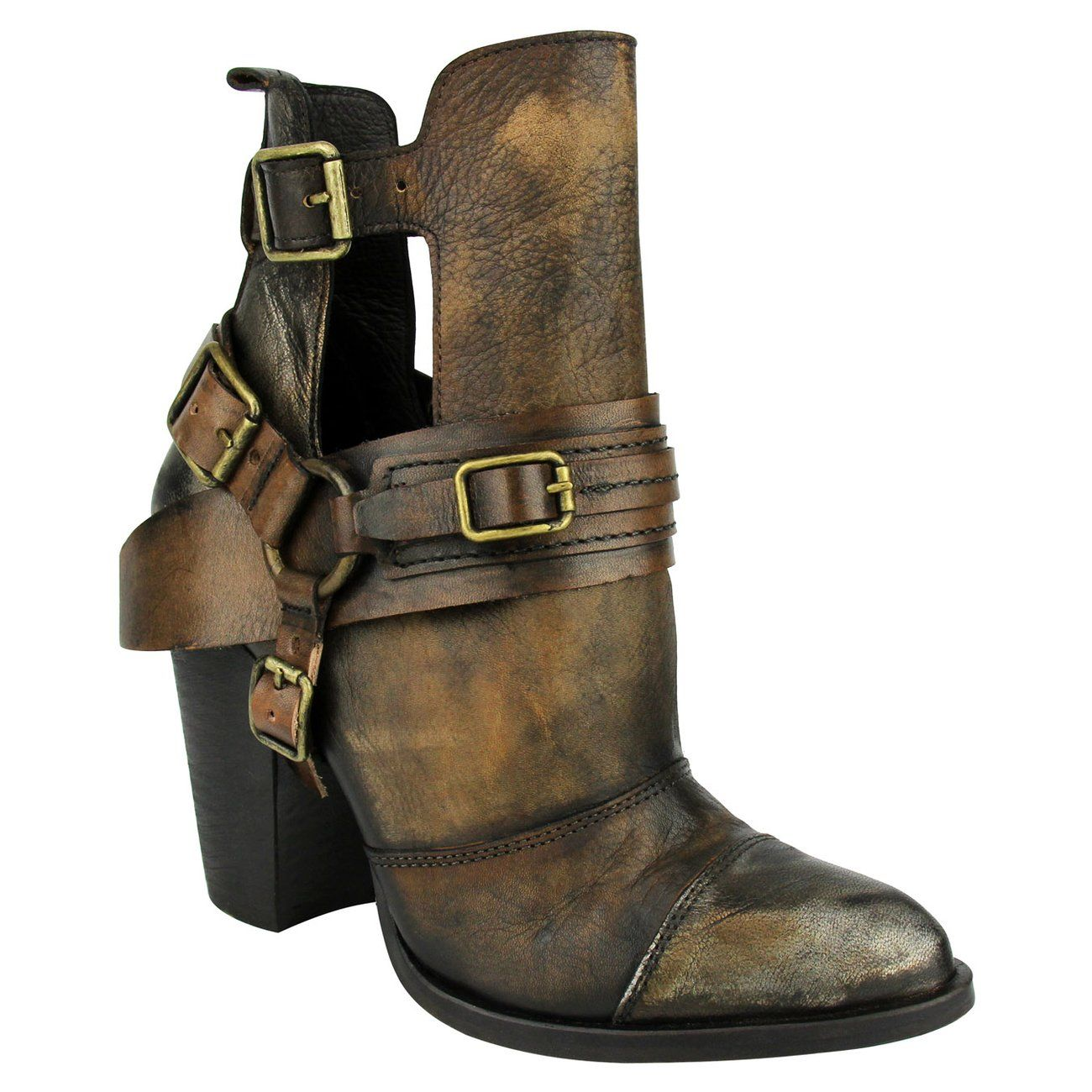 Naughty Monkey Sheila Tan Leather Boots Women