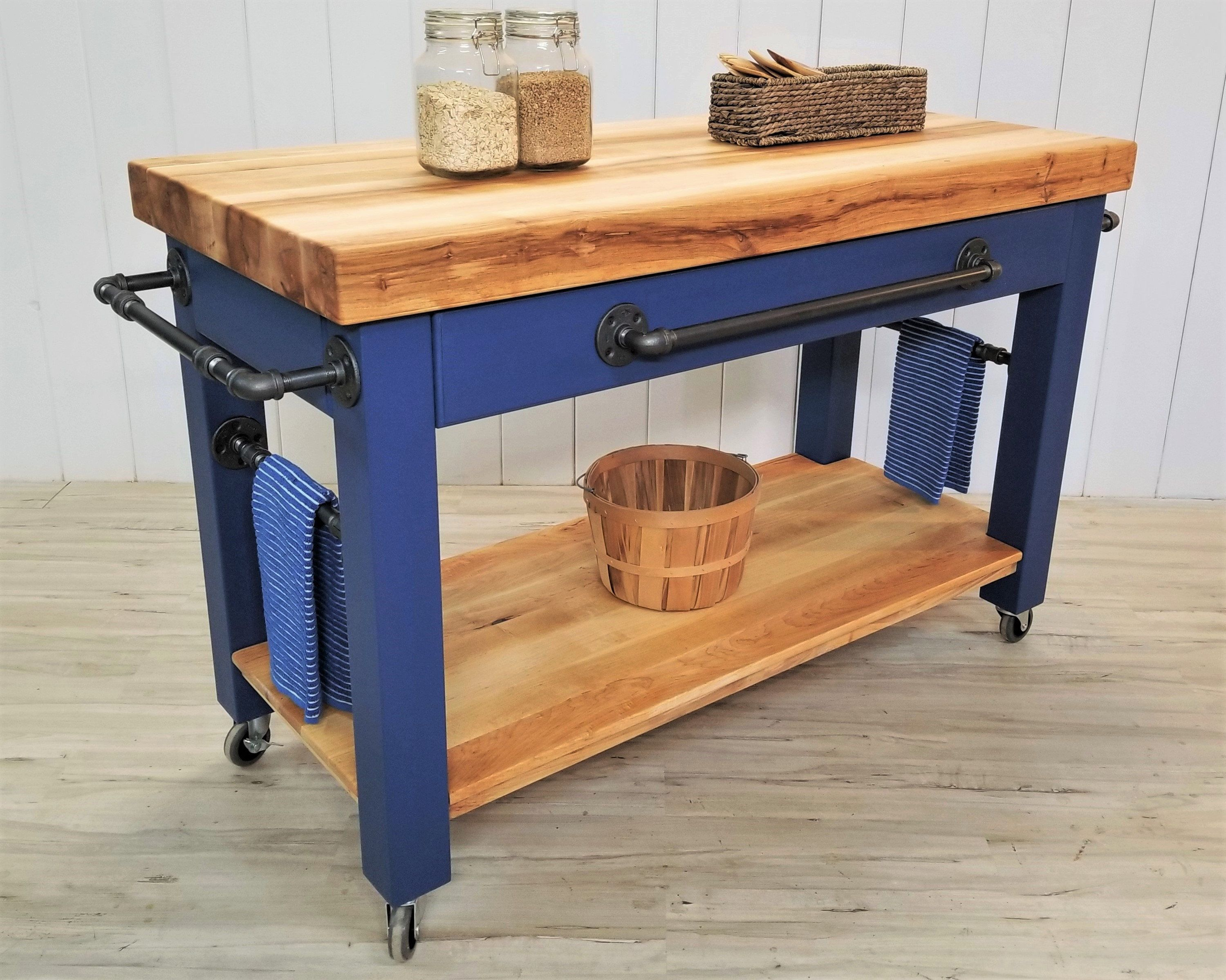 Customize This Maple Butcher Block Island Cart Chef S Prep