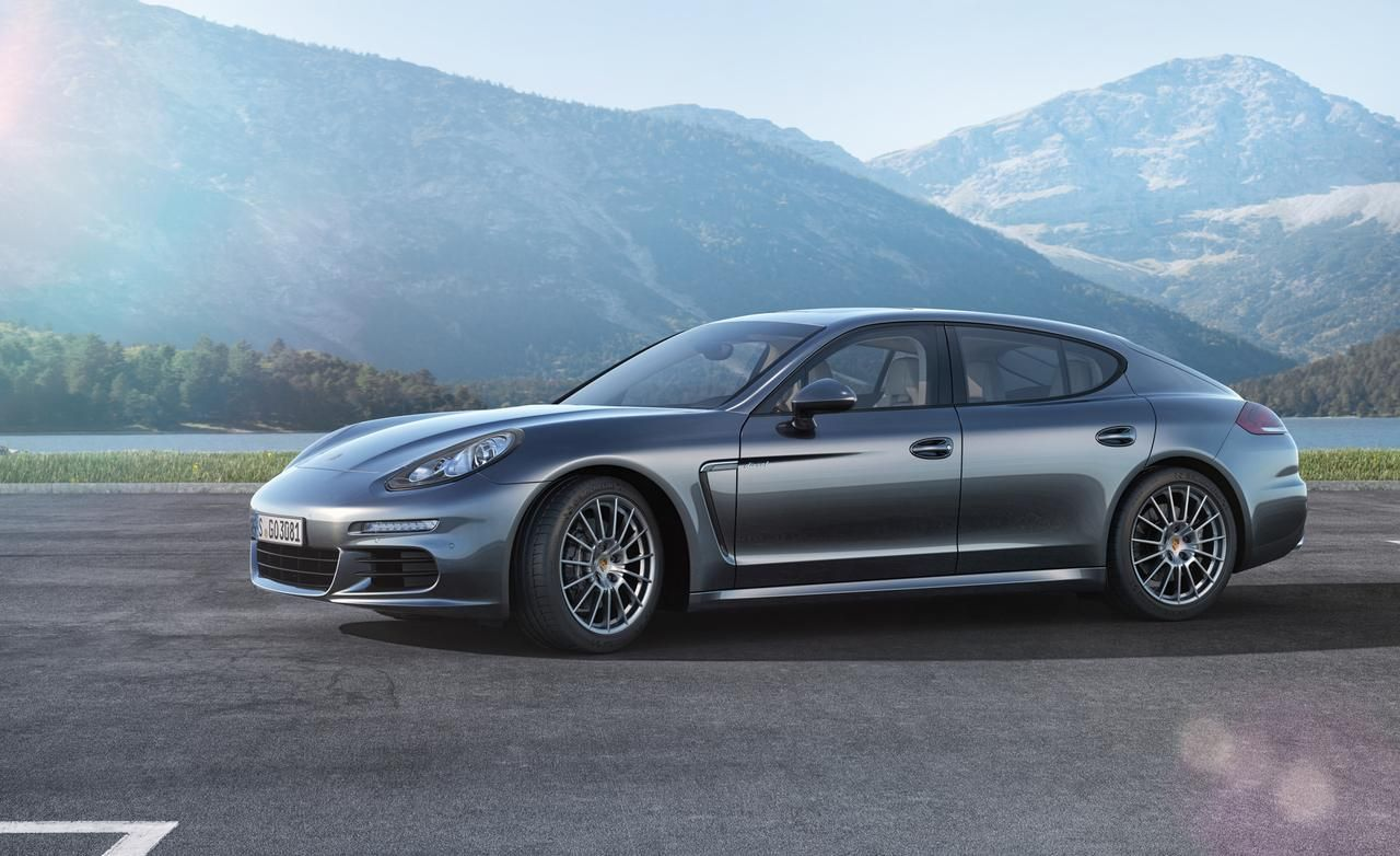 2014 Porsche Panamera Turbo S Black Mountain Front Widescreen Wallpaper