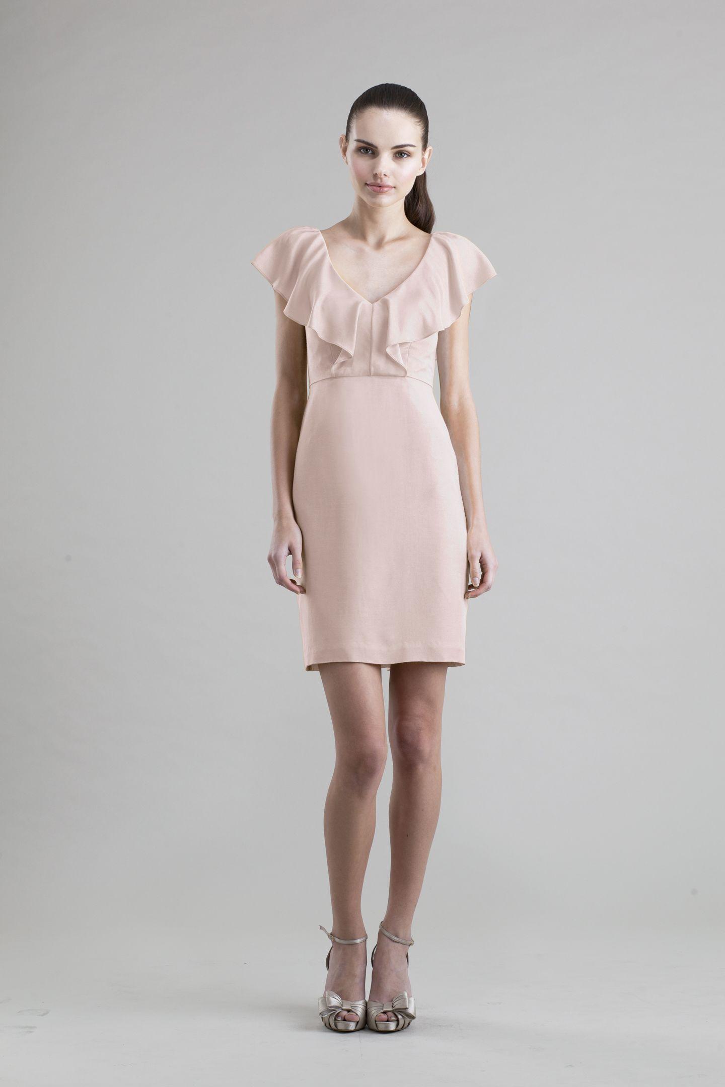 Gabby Silk Rayon Twill Dress in Blush | Bridesmaids | Pinterest ...