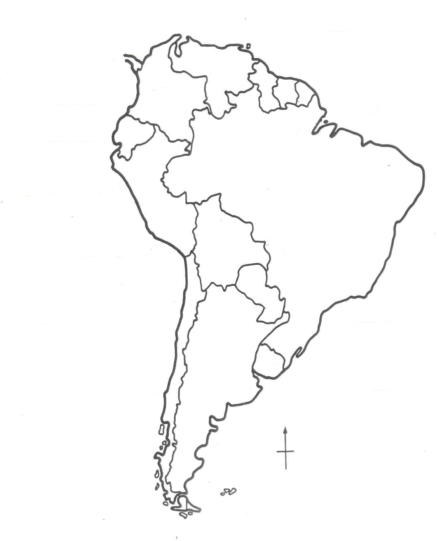 Blank South America Map High Quality