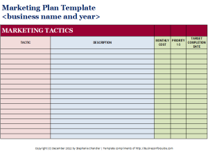 Free Marketing Plan Template  Small Business Growth Strategies