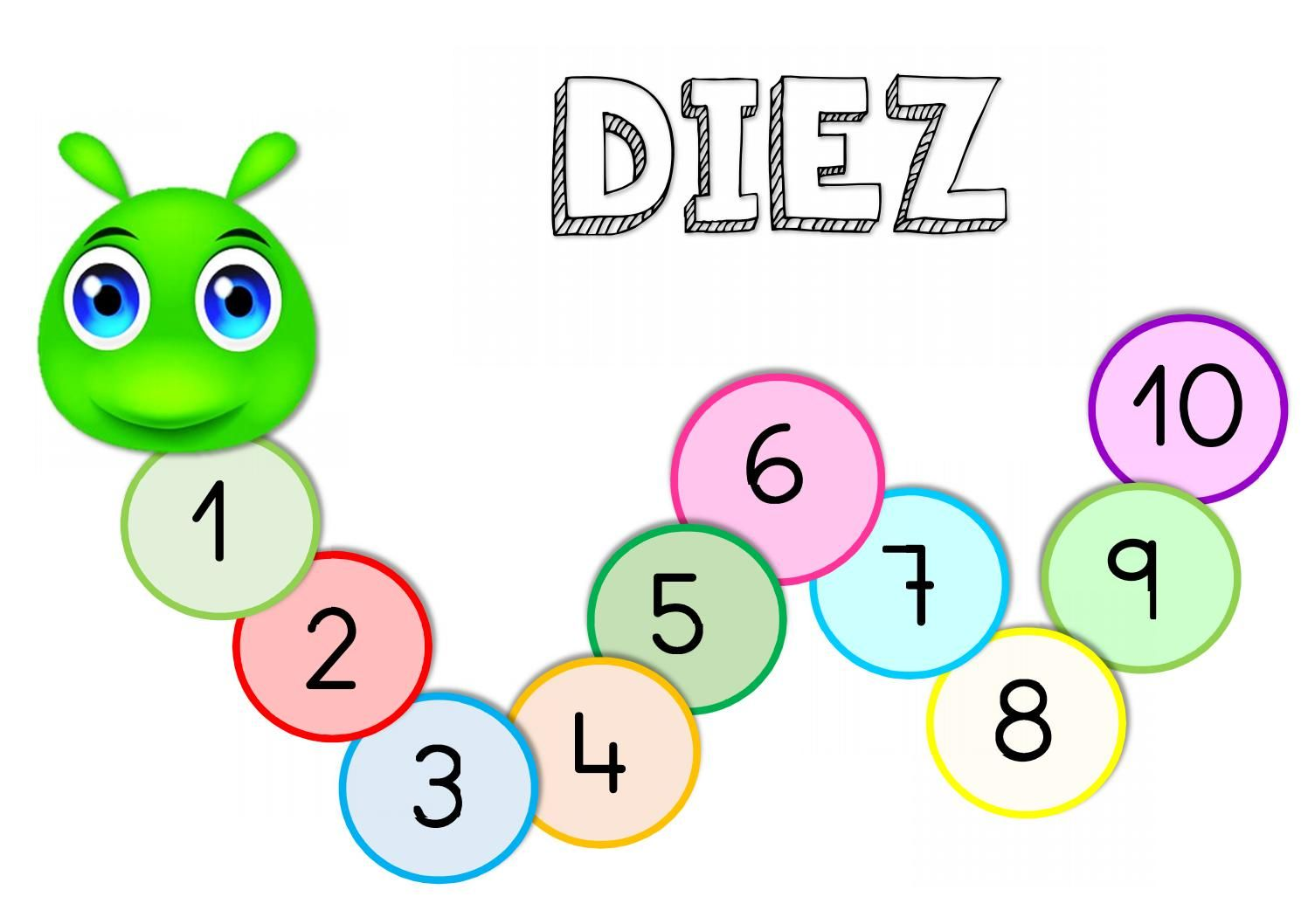 Gusano Numeros In 2021 Diez Digital Publishing Education