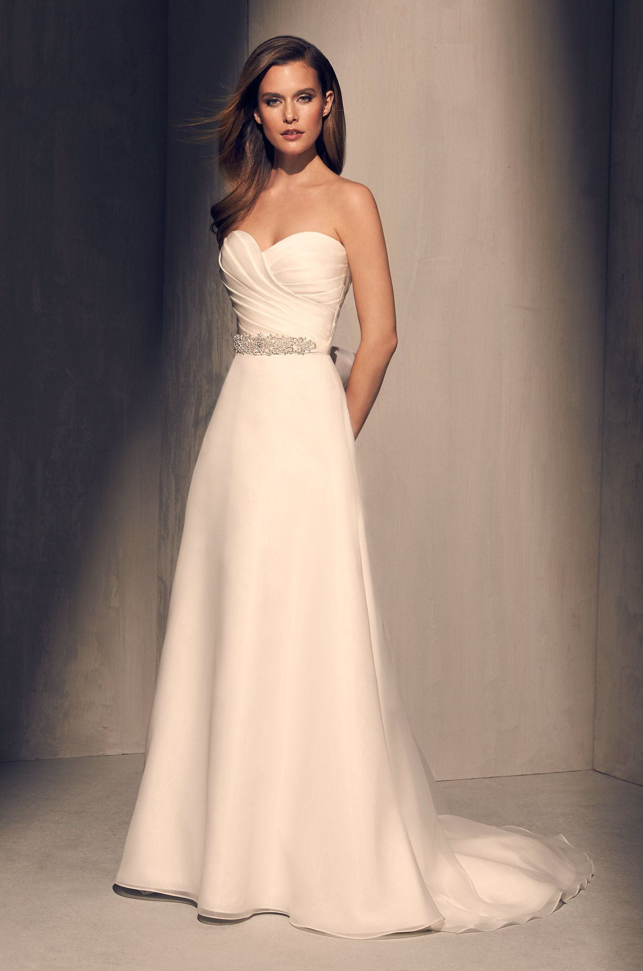 584aace1277 Pleated Bodice Wedding Dress - Style  2213 in 2019