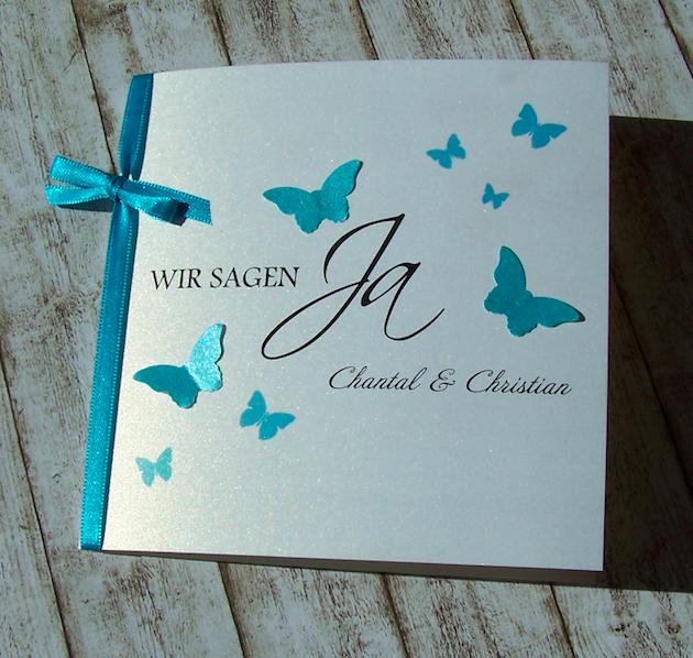 besondere einladungen zur hochzeit mit schmetterlingen in vielen farben wedding pinterest. Black Bedroom Furniture Sets. Home Design Ideas
