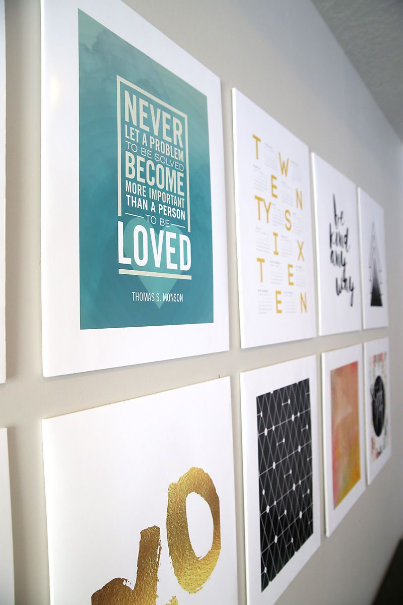 Diy Photo Mounting For A Cheap Easy Gallery Wall