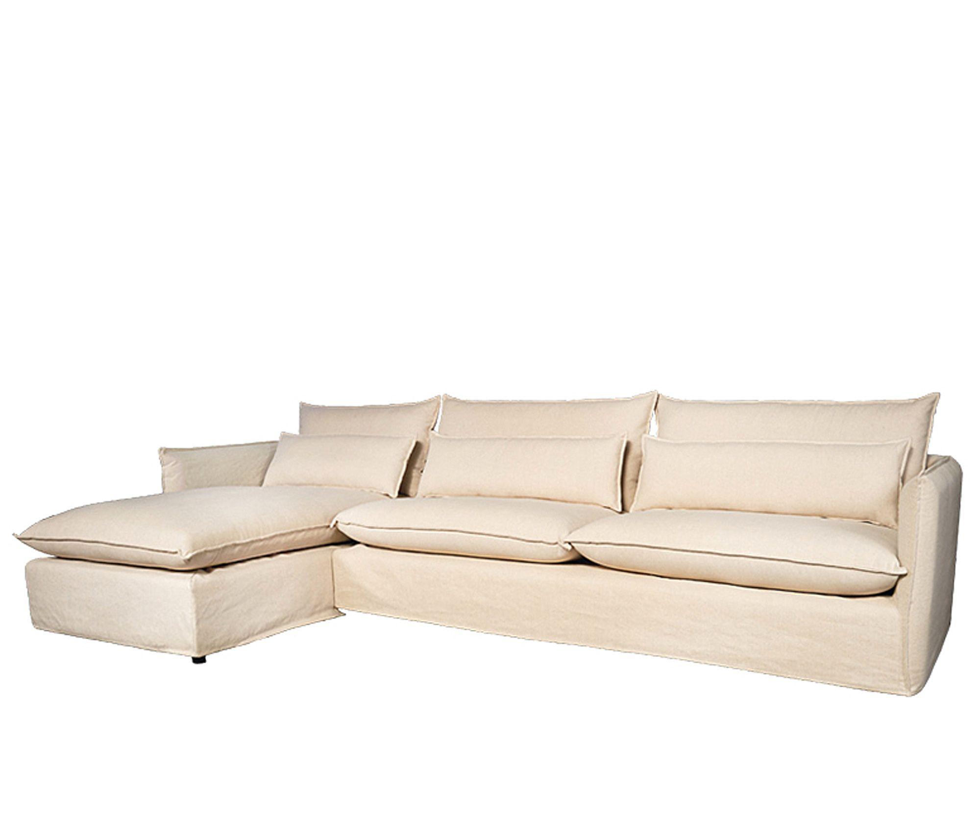 Zandkleurig Leren Bankstel.Lifestyle Vicenza Lounnge Sofa Left Zandkleur Hoekbank Hoekbank
