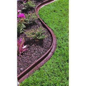 Ecoborder 4 Ft Brown Rubber Landscape Edging Ecobrd Brn 4ft At The Home Depot Mobile Landscaping With Rocks Landscape Edging Garden Edging