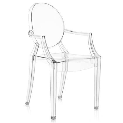 Philippe Starck Design Stoelen.Kartell Louis Ghost Stoel Philippe Starck
