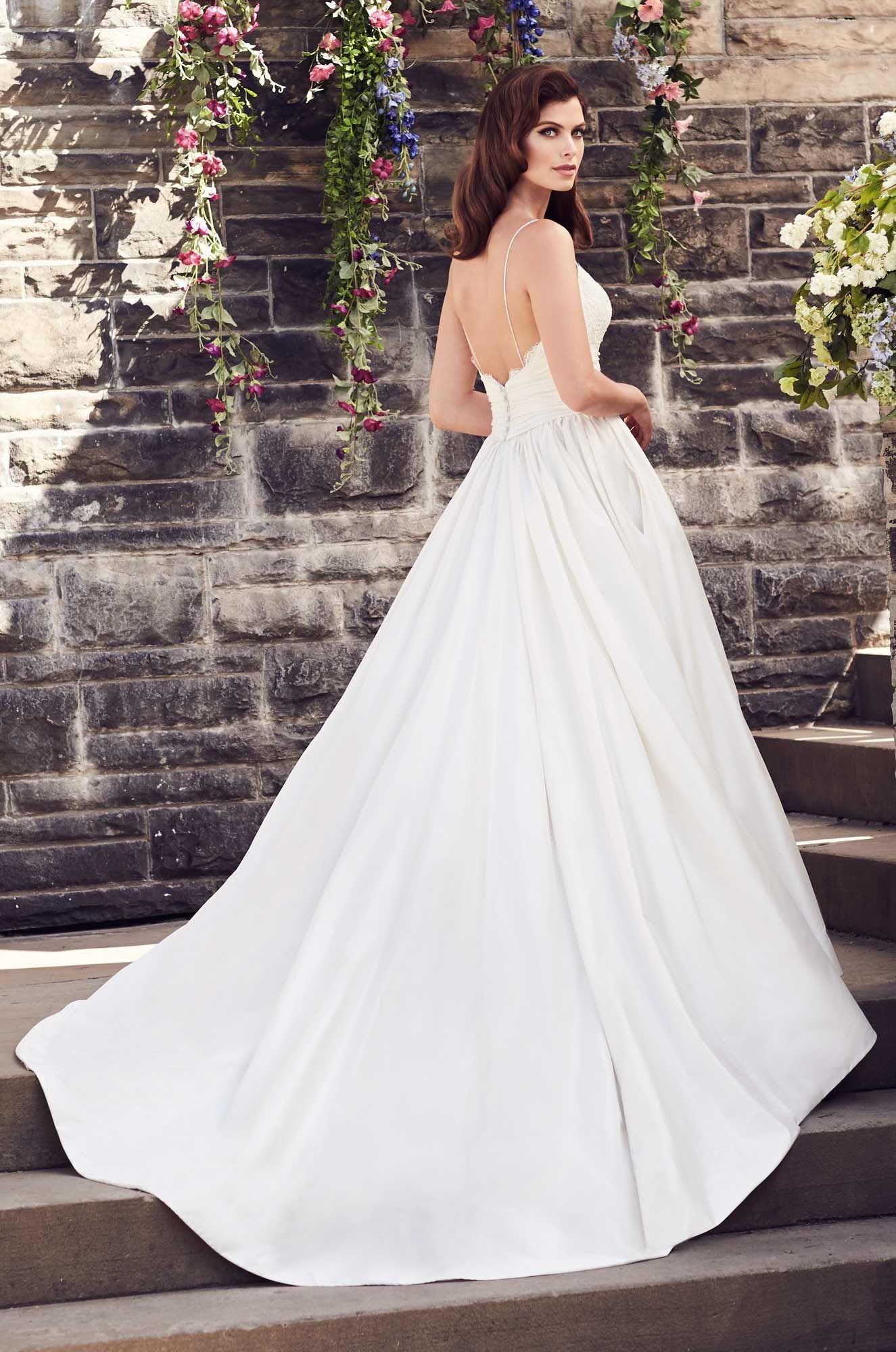 Silk aline wedding dress style paloma blanca bridal