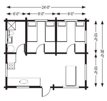 Small Hunting Cabins From Cowboy Log Homes Beaver Floor Plan Some Dimensions To Help Plan Our Cabin Hunting Cabin Log Homes Floor Plans
