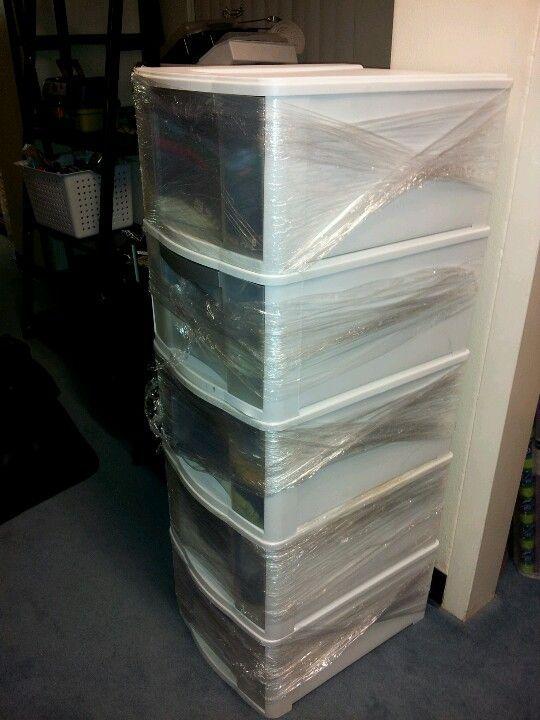 Packing Tip Moving Tip Use Saran Wrap To Secure Drawers