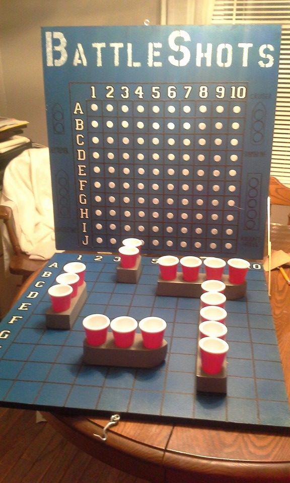Diy battleshots 22 x 22 md4 boards hinges wooden boats for Diy party games for adults