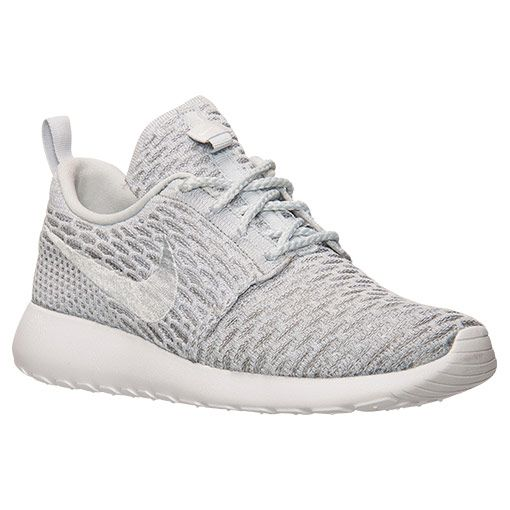 best service 5e298 cb9c0 Women s Nike Roshe One Flyknit Casual Shoes - 704927 002 - Wolf Grey Pure  Platinum White   Finish Line