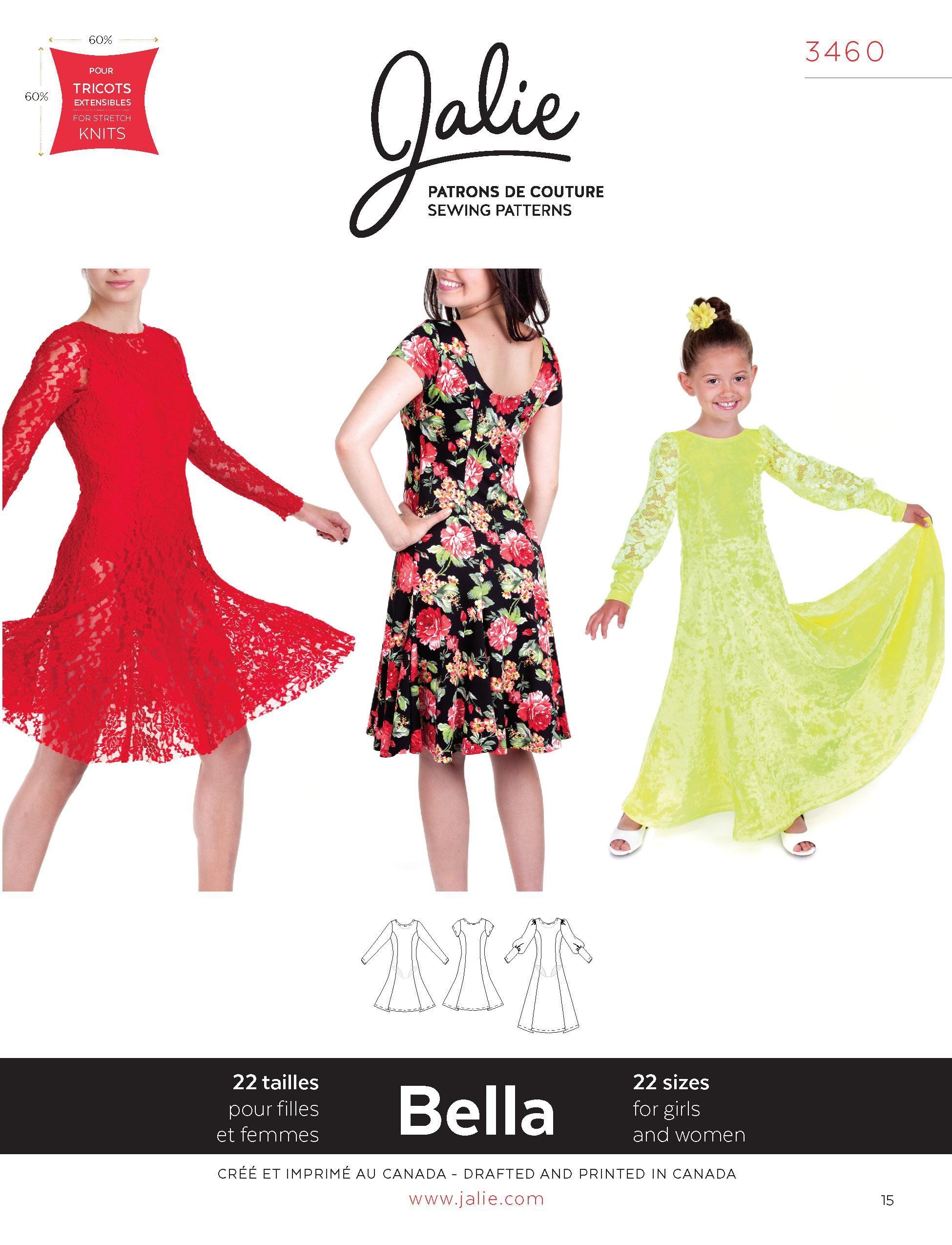 Jalie 3460 - Bella Dress PDF Pattern | PDF Patterns | Pinterest ...