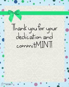 picture about Thank You for Your Commit Mint Printable titled Pin upon No cost Control Things for Lecturers