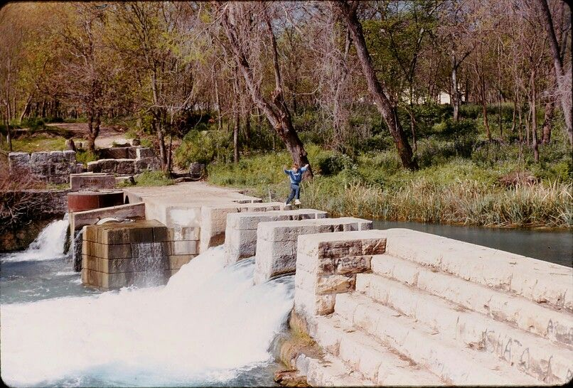 """Clemens Dam (now known as """"The Tube Shoot), Comal River"""