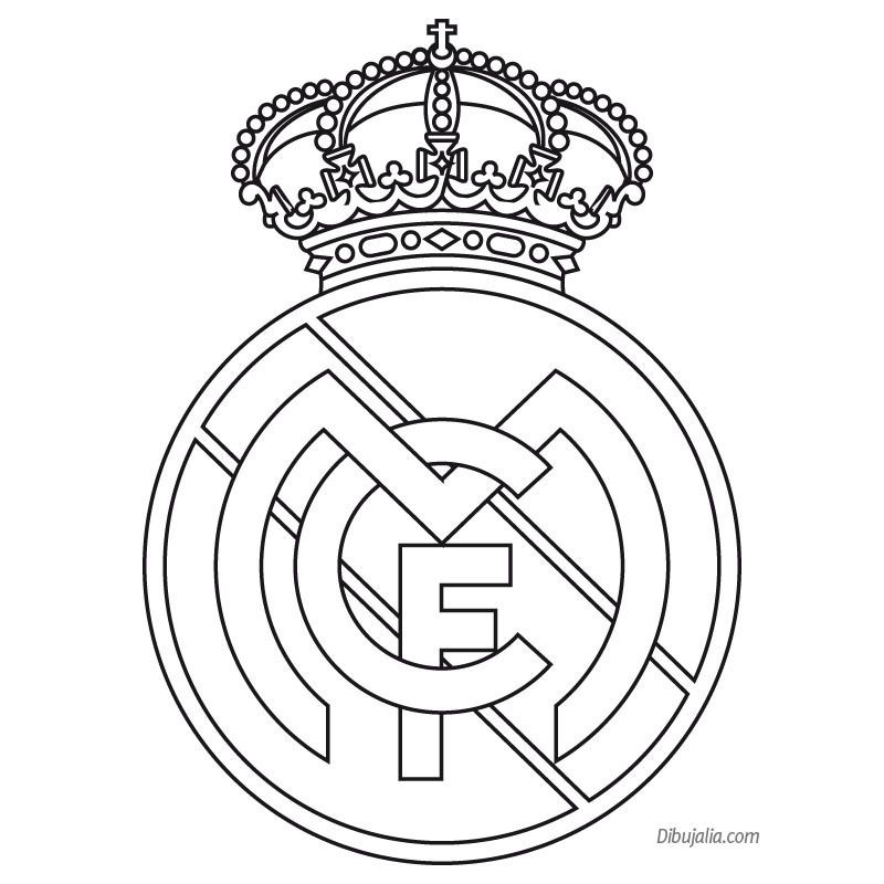 Dibujos Para Colorear De Futbol Del Real Madrid Real Madrid Logo Real Madrid Wallpapers Real Madrid Soccer