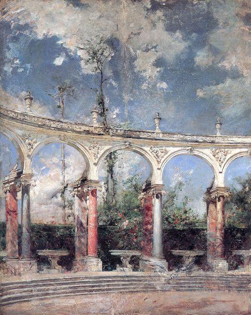 Giovanni Boldini (1842-1931), La Colonnade à Versailles - 1889