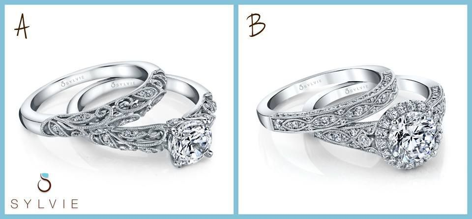 Which Of These Sylvie Vintage Inspired Bridal Sets Is Your Favorite A 1409 Or B S1392 Designer Engagement Rings Ring Designs Engagement Rings