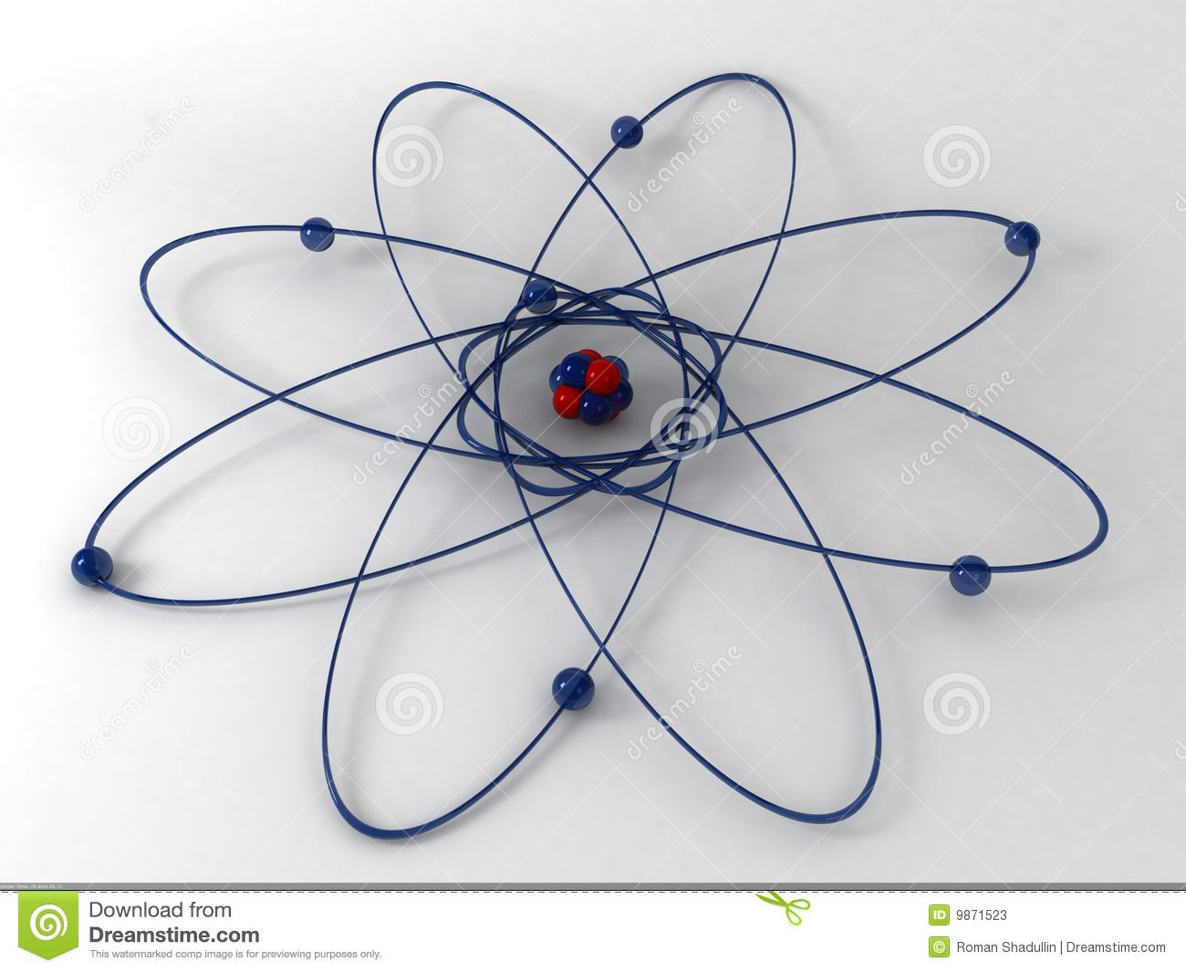 hight resolution of 3d atom model silicon