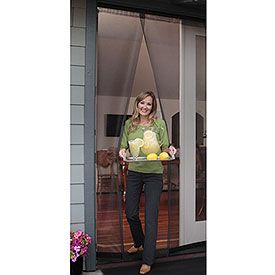 Bug Off Instant Screen Door With Magnetic Closure For A Single Or Sliding Door 36 W X 80 H Item 6260 Screen Door Instant Screen Door Sliding Screen Doors
