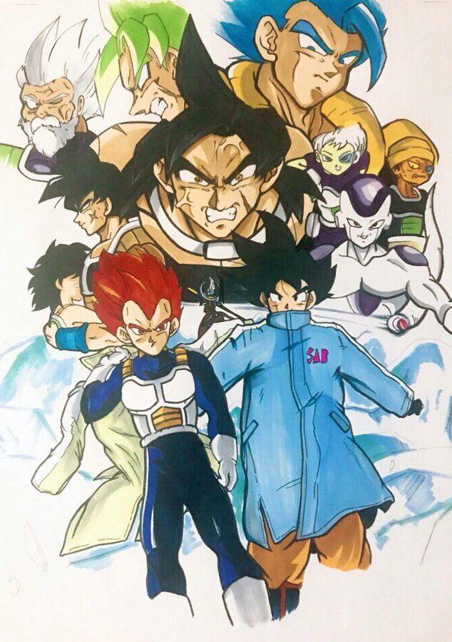 Goku vegeta broly bardock gine etc dragon ball super broly dragon ball z super gt - Super san dragon ball z ...