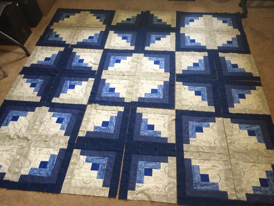 Layout For Cobalt Log Cabin Log Cabin Quilts Log Cabin Quilt Pattern Log Cabin Quilt
