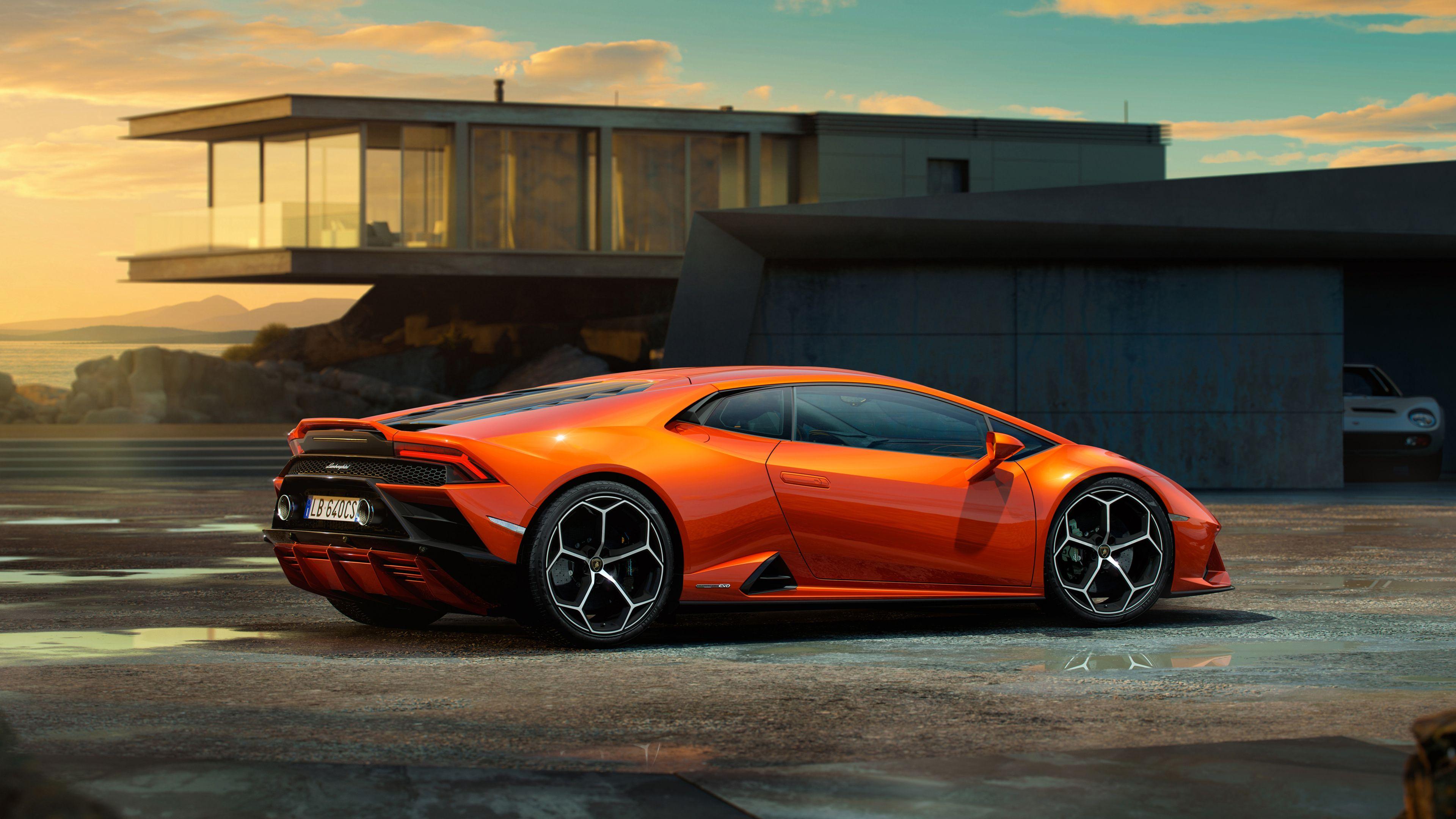 Lamborghini Huracan EVO 2019 Side View 4k lamborghini