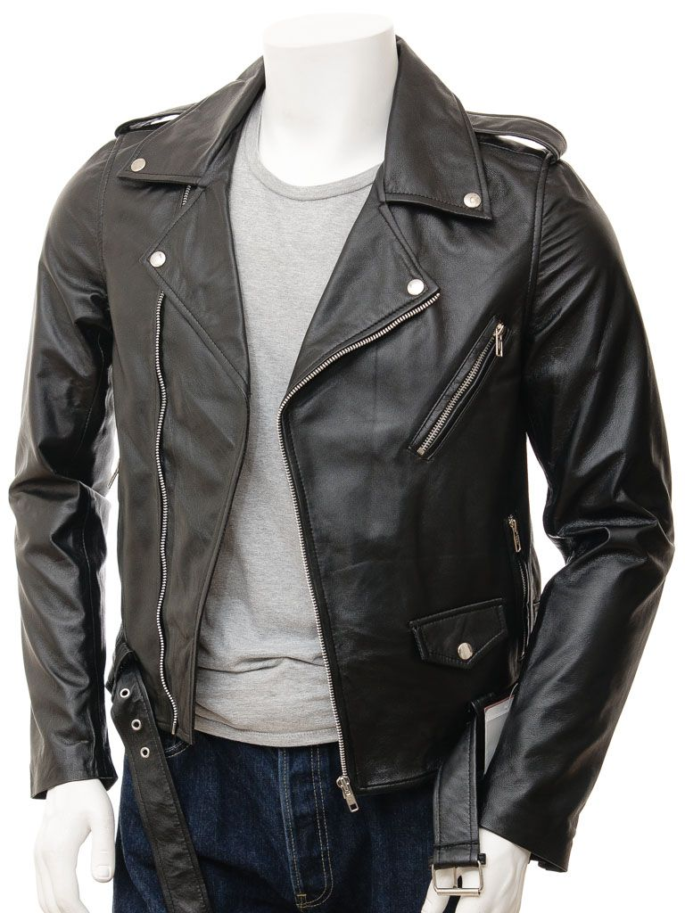 Buy Mens Leather Biker jacket online at leathernxg | Mens Leather ...