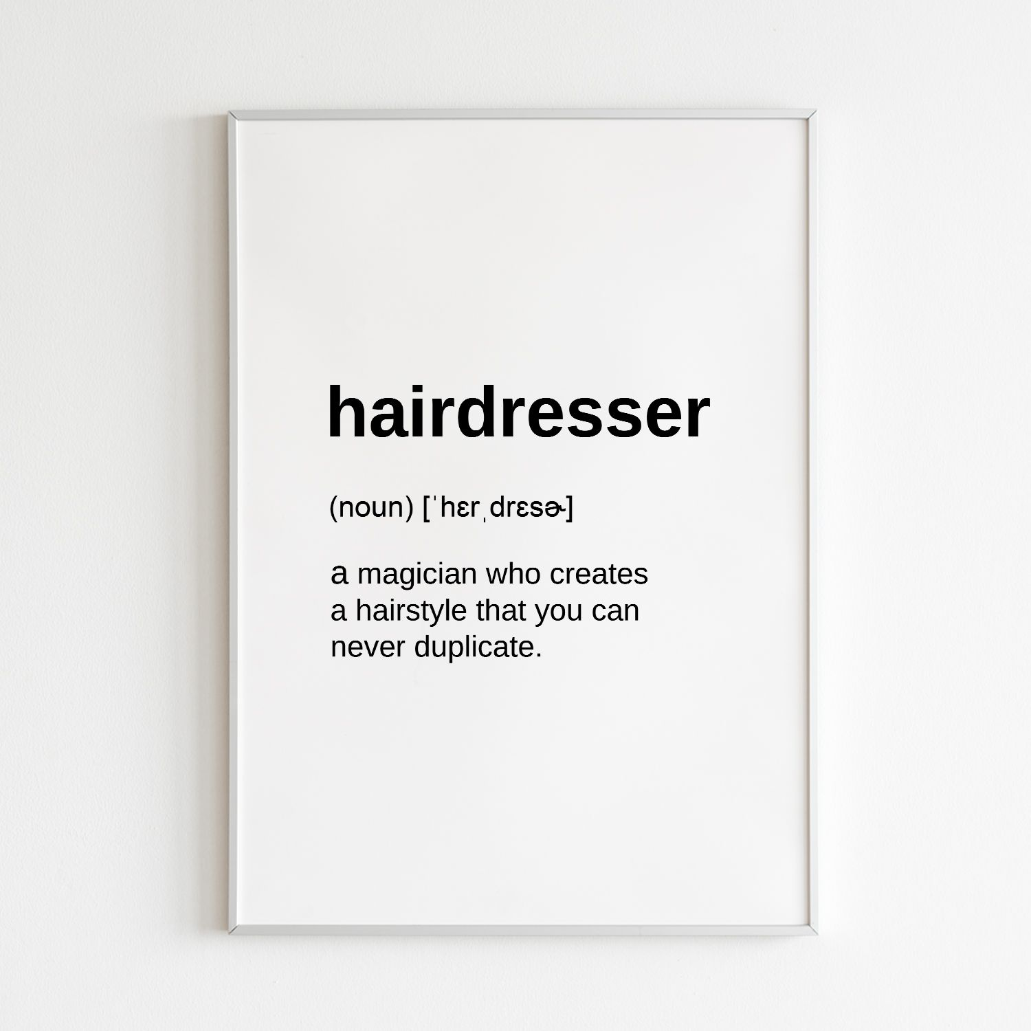 Definition Prints Hairdresser Gifts For Hair Salon Digital Etsy Hairdresser Quotes Hairdresser Gift Hair Salon Quotes