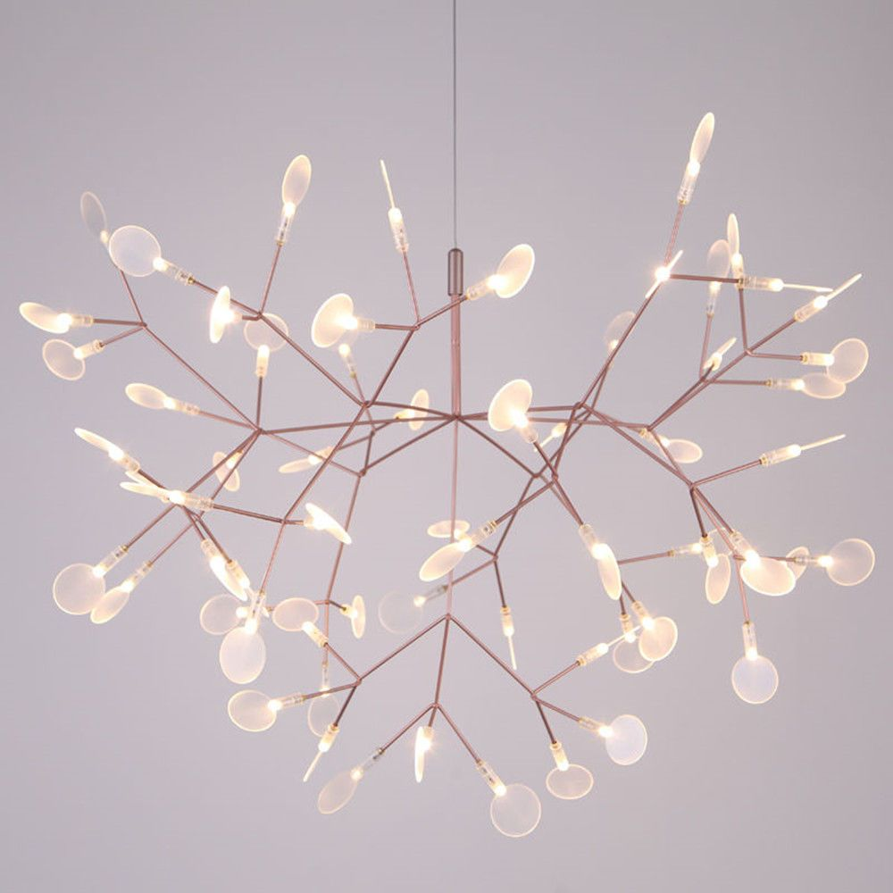 Ceiling Lights & Fans Modern Led American Garden Flower Chandelier Living Room Exquisite Carved Ceramic Lighting Restaurant Wrought Iron Pendant Lamps