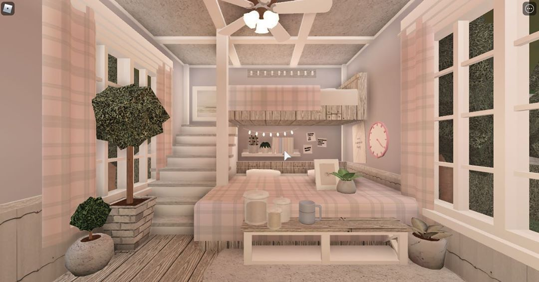 Iiscfis On Instagram A Bedroom Bed Hack From Avoralights Tags Roblox House Decorating Ideas Apartments Tiny House Layout Small House Design Plans