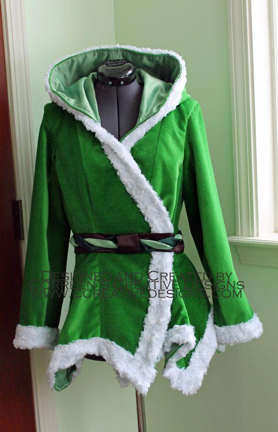 tinkerbell velvet costume coat custom made ladies. Black Bedroom Furniture Sets. Home Design Ideas