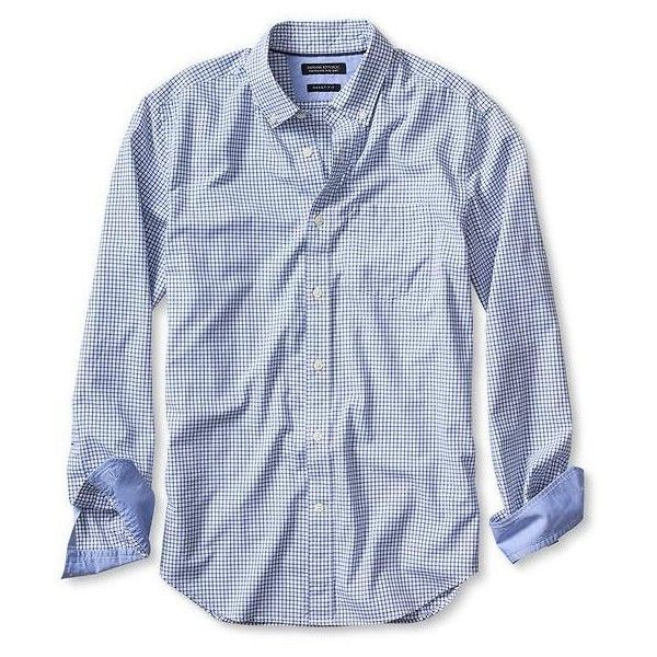Banana Republic Mens Grant Fit Custom 078 Wash Micro Check Shirt ...
